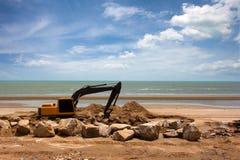 Máquina da máquina escavadora Imagem de Stock Royalty Free