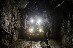 Máquina da mina fotografia de stock