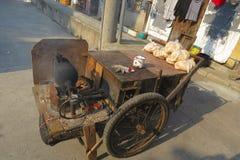 Máquina da pipoca em Shanghai, China Foto de Stock