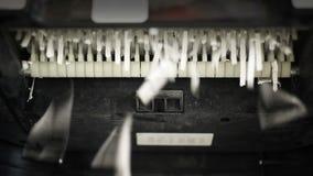 Máquina da retalhadora de papel video estoque