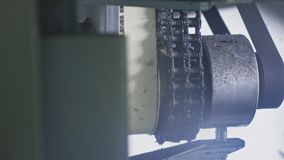 Máquina da serra da circular da serração Fabricação de fábrica plástica das tubulações de água Processo de fazer os tubos plástic video estoque