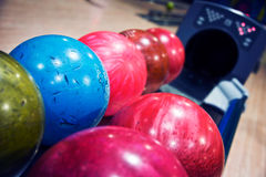 Máquina das bolas de boliches Fotos de Stock