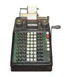 Máquina de adição manual do vintage isolada Fotografia de Stock Royalty Free