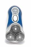 Máquina de afeitar eléctrica azul Foto de archivo