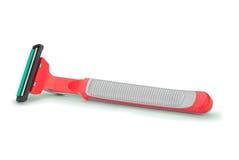 Máquina de afeitar gris roja Imagen de archivo