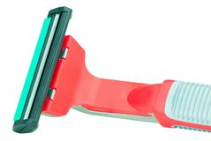 Máquina de afeitar roja Fotos de archivo libres de regalías