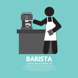 Máquina de Barista Working With Espresso libre illustration
