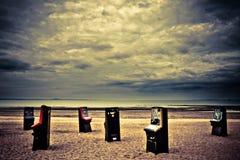 Máquina de billar automático en la playa de Portobello Fotos de archivo