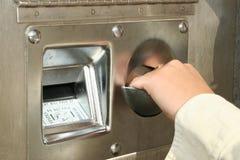 Máquina de cambio de Bill Fotografía de archivo