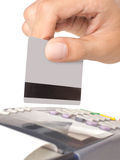 Máquina de cartão do crédito Foto de Stock