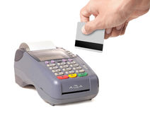 Máquina de cartão do crédito Fotos de Stock Royalty Free