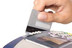 Máquina de cartão do crédito Imagens de Stock Royalty Free