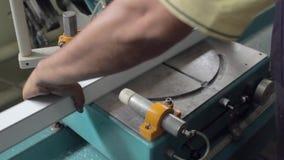 Máquina de corte de alumínio do perfil video estoque
