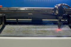 Máquina de corte do laser Foto de Stock Royalty Free