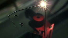 máquina de corte do laser 3D na ação filme