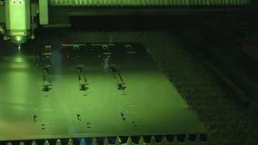 Máquina de corte do laser da fibra da fibra no processo video estoque