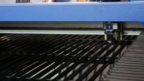 Máquina de corte do laser para a folha de metal video estoque