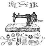 Máquina de coser libre illustration