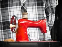 Máquina de coser mecánica Fotografía de archivo