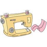Máquina de coser retra Fotografía de archivo libre de regalías