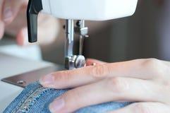 Máquina de costura. imagem de stock