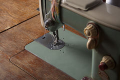 Máquina de costura verde Imagem de Stock Royalty Free