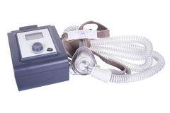 Máquina de CPAP Imagen de archivo libre de regalías