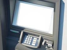 Máquina de dinheiro escura com tela vazia rendição 3d Imagens de Stock Royalty Free