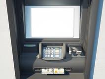 Máquina de dinheiro escura em uma parede brilhante rendição 3d Fotografia de Stock Royalty Free