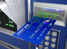 Máquina de efectivo y comercio electrónico ilustración del vector