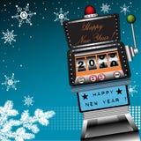 Máquina de entalhe do ano novo feliz ilustração stock