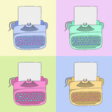 Máquina de escrever à moda Fotos de Stock
