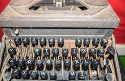 Máquina de escrever antiga fotografia de stock royalty free