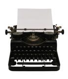 Máquina de escrever com papel Fotos de Stock Royalty Free