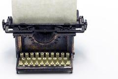 Máquina de escrever de bronze Fotos de Stock Royalty Free