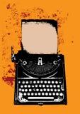 Máquina de escrever de Grunge com uma folha Fotografia de Stock