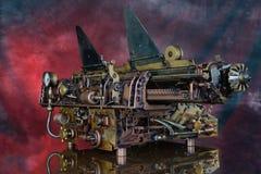 Máquina de escrever de Steampunk Imagens de Stock