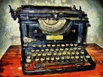 Máquina de escrever do ` s de Van Gogh foto de stock royalty free