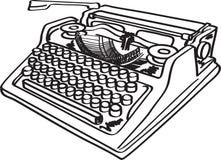 Máquina de escrever do vetor Imagens de Stock Royalty Free