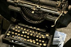 Máquina de escrever do vintage Foto de Stock Royalty Free