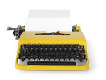 Máquina de escrever do vintage na vista dianteira - com trajeto de grampeamento Imagem de Stock Royalty Free