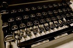 Máquina de escrever manual mecânica do vintage foto de stock