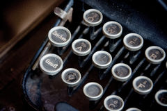 Máquina de escrever velha Imagens de Stock Royalty Free