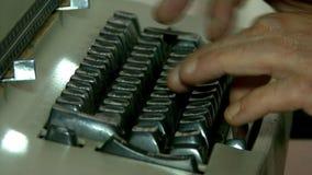 Máquina de escrever velha filme