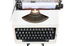 Máquina de escrever velha, branca fotografia de stock royalty free