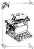 Máquina de escrever velha com monogramas Imagem de Stock Royalty Free