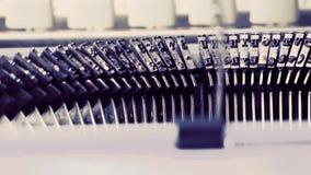 Máquina de escrever velha do CU, conceito do escritor do vintage