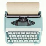 Máquina de escrever velha isolada em branco, conceito da escrita, jornalismo, criando um documento, nostalgia ilustração royalty free