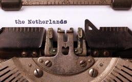 Máquina de escrever velha - os Países Baixos Foto de Stock Royalty Free