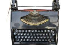 Máquina de escrever velha, preta fotografia de stock royalty free